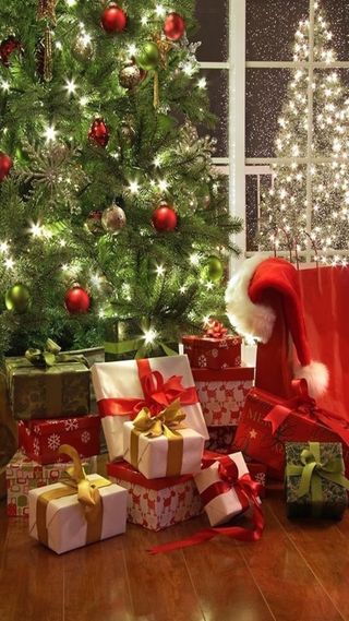 Обои на телефон украшения, рождество