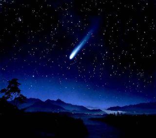 Обои на телефон естественные, приятные, природа, пейзаж, падение, ночь, новый, звезда, волшебные, magical night, falling star