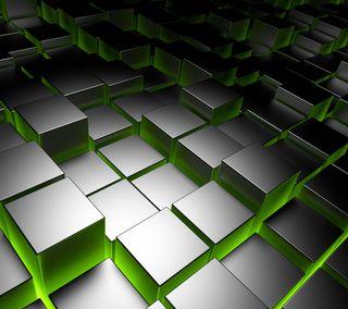 Обои на телефон квадратные, шаблон, стальные, куб, коробка, абстрактные, cube steel, 3д, 3d
