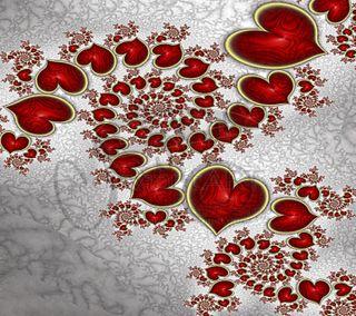 Обои на телефон валентинка, сердце
