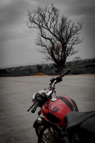 Обои на телефон мотоциклы, красые, байк, royalenfieldbyakki, royal enfield, redditch red