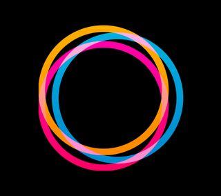 Обои на телефон круги, цветные, кольца, абстрактные