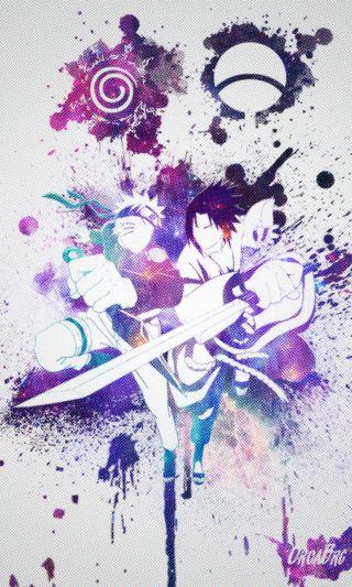 Обои на телефон манга, фиолетовые, синие, саске, наруто, космос, дизайн, галактика, вселенная, бой, аниме, orcabrg, naruto x sasuke, galaxy