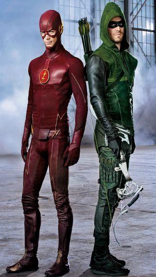 Обои на телефон стрела, флэш, против, flash vs arrow