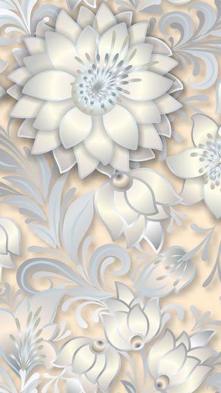 Обои на телефон сияние, шаблон, цветы, цветочные, серые, дизайн, белые, абстракция, white abstraction