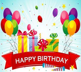 Обои на телефон шары, счастливые, подарки, день рождения, вечеринка
