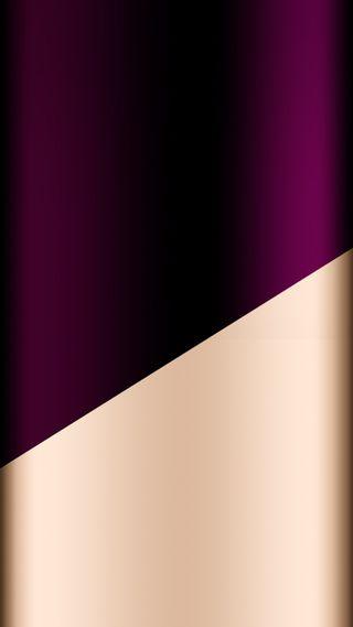 Обои на телефон фиолетовые, золотые, дизайн, грани, абстрактные, s7 edge