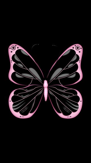 Обои на телефон розовые, бабочки