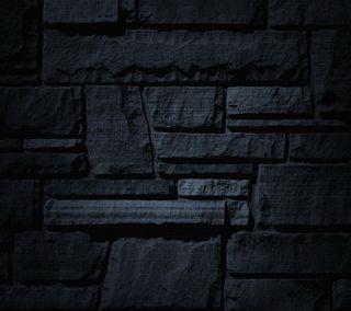 Обои на телефон черные, стена, black wall, 2160x1920
