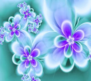 Обои на телефон цветы, абстрактные