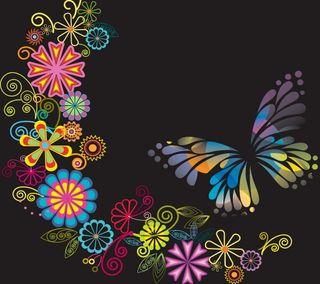 Обои на телефон цветочные, цветы, красочные, бабочки, арт, абстрактные, art