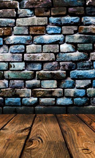 Обои на телефон кирпичи, цветные, фон, стена, planks background, colored bricks wall