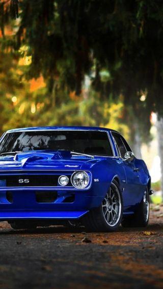 Обои на телефон камаро, синие, машины, 69 blue ss