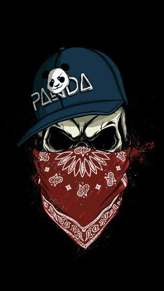 Обои на телефон панда, мортал, маска, гражданская