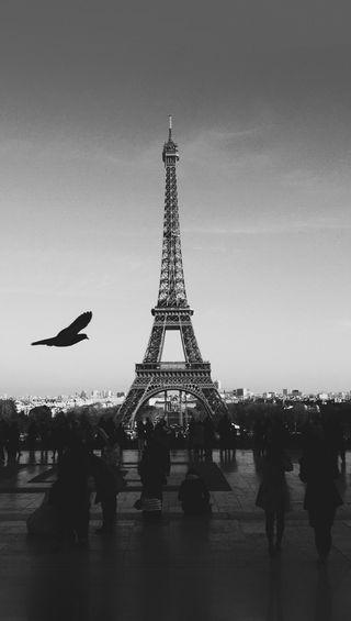 Обои на телефон франция, париж, черные, et black