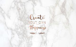 Обои на телефон мрамор, цитата, твой, счастье, мотивационные, высказывания, silo925, create your own happiness