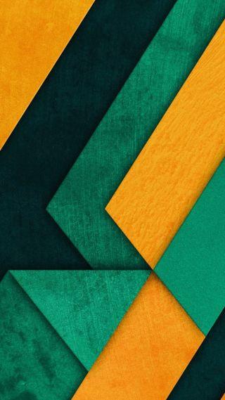 Обои на телефон шаблон, фон, материал, зеленые, желтые, дизайн, андроид, абстрактные, android
