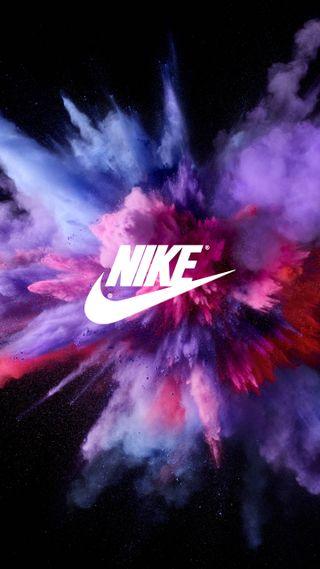 Обои на телефон сумасшедшие, цветные, пыль, найк, логотипы, космос, взрыв, бренды, nike powder, nike, hd
