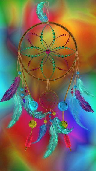 Обои на телефон ловец снов, цветные, радуга, мечта, дизайн, арт, art
