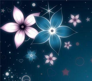 Обои на телефон фантазия, цветы, стены, неоновые