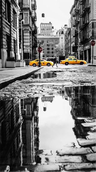 Обои на телефон новый, taxi schwarz-weiss