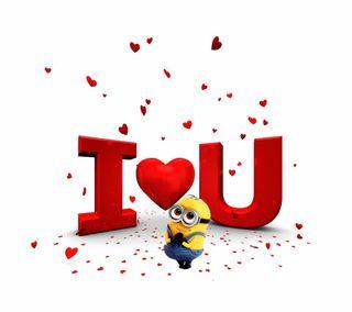 Обои на телефон будь, сердце, мой, миньоны, милые, любовь, красые, валентинка, i love u minion, be mine