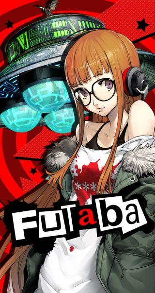 Обои на телефон сакура, аниме, persona 5, persona, futaba sakura