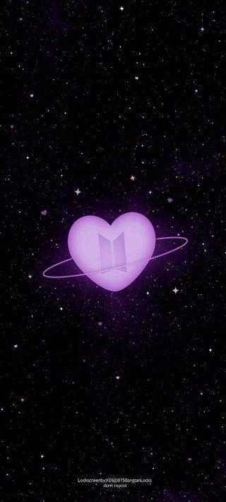 Обои на телефон бтс, черные, темные, сердце, розовые, ночь, милые, звезды, армия, hd, bts