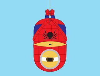 Обои на телефон человек паук, паук, миньоны, милые, вниз, веб, upside, man