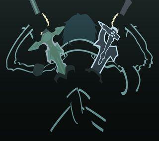 Обои на телефон сао, меч, кирито, арт, kirigaya, kazuto