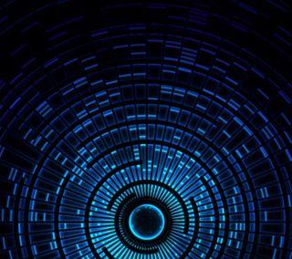 Обои на телефон цвет морской волны, цифровое, технология, сфера, синие, свет, поток, неоновые, крутые, дизайн, вихрь, orb vortex, hd