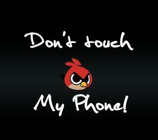 Обои на телефон злые, цитата, трогать, телефон, птицы, поговорка, новый, не, комедия, знаки, забавные, angry bird