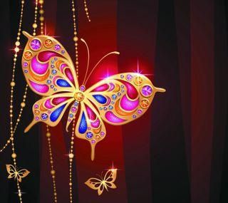 Обои на телефон сверкающие, роскошные, золотые, бриллианты, бабочки, luxury, jewelry