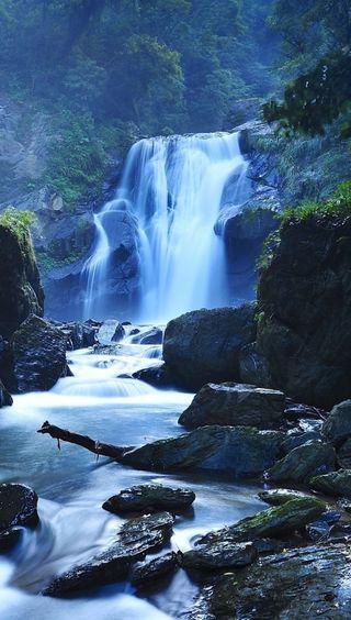 Обои на телефон водопад, природа, падает, вода