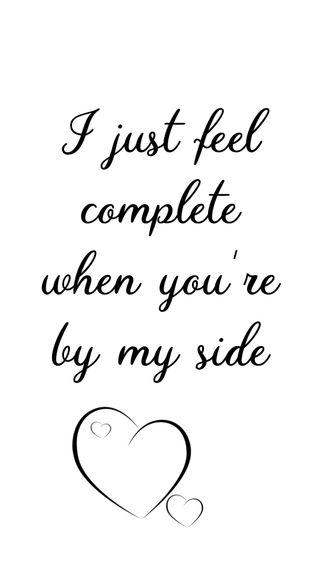 Обои на телефон love, i feel complete, любовь, сердце, цитата, высказывания, чувствовать