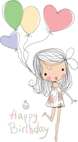 Обои на телефон пожелания, шары, счастливые, день рождения, девушки, happy