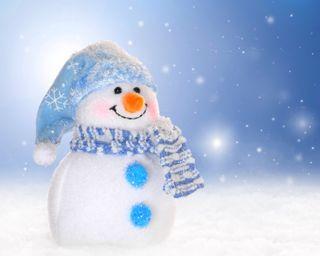 Обои на телефон снеговик, снег, рождество, зима