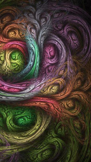 Обои на телефон душа, цветные, вихрь, swirls