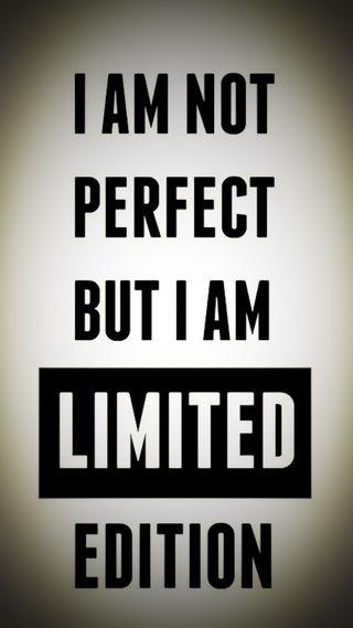 Обои на телефон цитата, perfect, limited editiob, i am not perfect