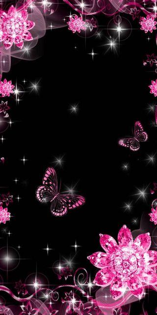 Обои на телефон фиолетовые, бабочки