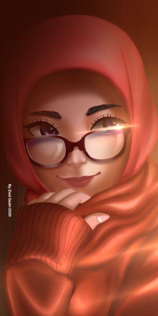 Обои на телефон хиджаб, принцесса, стекло, королева, исламские, ислам, глаза
