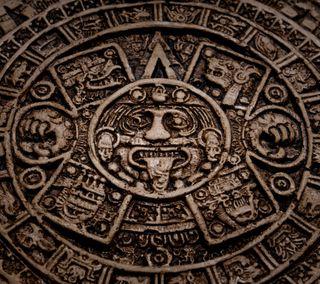 Обои на телефон статуя, мексика, время, mayan, calender