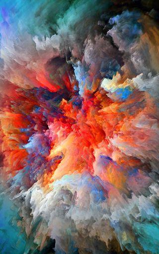 Обои на телефон взрыв, цветные, coloured