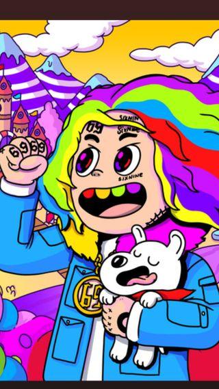 Обои на телефон шесть, рэп, радуга, мультфильмы, забавные, аниме, tekashi, nine, cn, 6ix9ine, 69