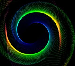 Обои на телефон спираль, круги, абстрактные, 3д, 3d