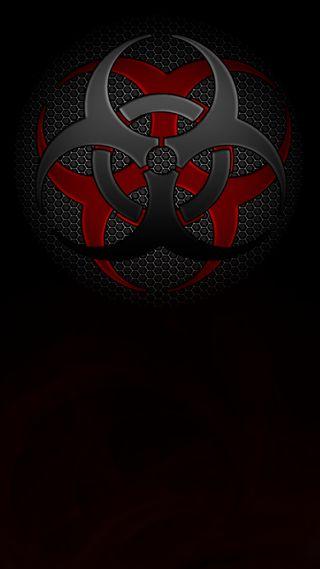 Обои на телефон символ, черные, темные, биологическая опасность, biohazard