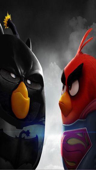Обои на телефон герои, супер, птицы, мультфильмы, злые