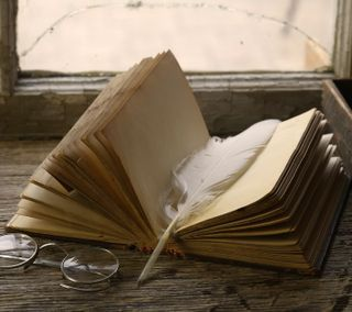 Обои на телефон книга, перо, read