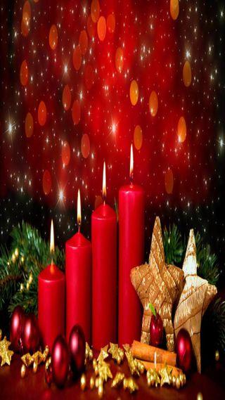 Обои на телефон свечи, рождество, приятные, прекрасные, милые, взгляд, christmas candles