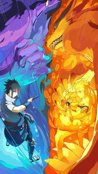 Обои на телефон шесть, против, саске, наруто, аниме, six paths, shippuden, naruto vs sasuke